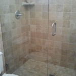 heavy plate frameless shower