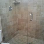 heavy plate frameless shower