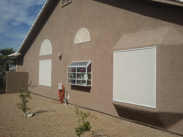 stucco colored solar screen
